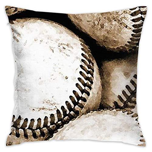 Helen vi Retro Baseball Home Dekorative Dekokissen Cases Kissen Kissenbezug Abdeckung 45x45 cm für Wohnzimmer Schlafzimmer Auto