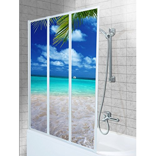 SHIRT-TO-GO 3-teiliges Aufkleber-Set für Duschwand Duschwand Aufkleber - Motiv Urlaub