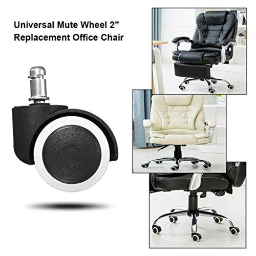 Byubox 5Pcs 2' Chair Stützrad Swivel Gummirad Office Home Holzbodenschutz