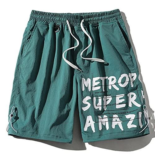 WQEDZSADv Man Streetwear Summer Cargo Shorts with Pockets Harajuku Ribbons Casual Mens Shorts Knee Length Short Pants Men Bermudas