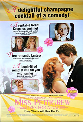 MISS PETTIGREW LIVES FOR A DAY Original Movie Poster 27x40 - Dbl-Sided - Frances McDormand - Amy Adams - Lee Pace - Ciaran Hinds