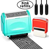 Itari Identity Theft Protection Stamp for Id Blockout,Privacy Confidential and Address Blocker 2 Pcs Set with 3 Refill Inks