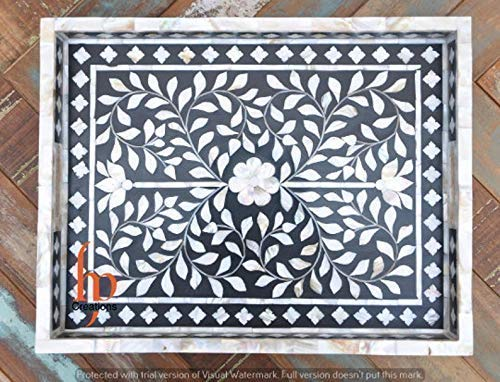 Mother Of Pearl Bone inlay serving butler tray butlers Free Popular standard shipping anywhere in the nation moroccan