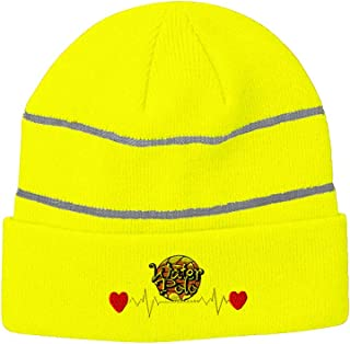 Reflective Beanie for Men & Women Sports Lifeline Water Polo Embroidery 1 Size