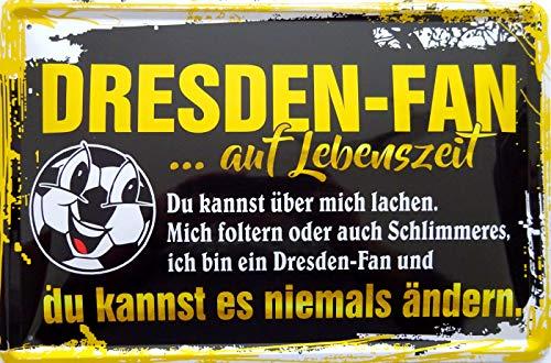 vielesguenstig-2013 Blechschild Schild 20x30cm - Ich Bin Dresden Fan Fussball Sport