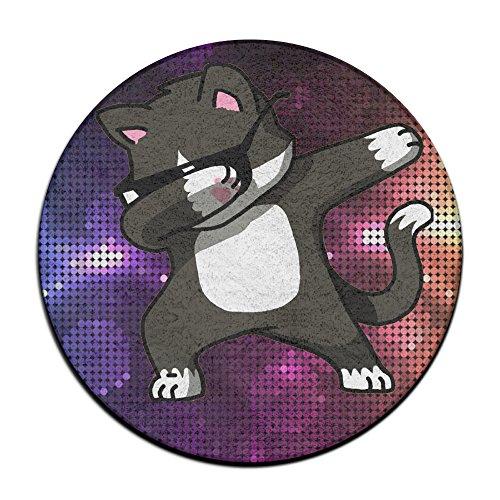 Tamponnant Cat Funny antidérapant Tapis Circulaire Tapis de Moquette Salle à Manger Chambre à Coucher Tapis Tapis de Sol 59,9 cm