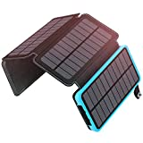 ADDTOP Solar Charger 25000mAh, Portable Power Bank with 4 Solar Panels 2 USB
