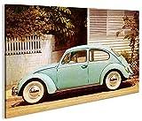 islandburner Bild Bilder auf Leinwand Käfer V3 Retro Style