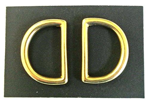 laiton massif 25 mm Anneaux en D X2, X5, X10 Idéal pour laisse de chien, colliers, cheval, Règne, cuir, travaux manuels, 25mm