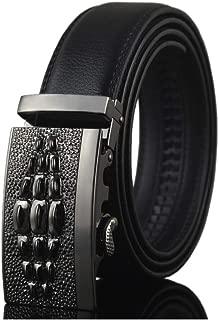 Crocodile Buckle Ratchet Cowhide Genuine Leather Belts For Men Jeans Luxury Wedding Belt