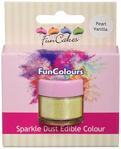 FunCakes Edible FunColours Sparkle Dust - Pearl Vanilla, 5er Pack (5 x 1 g)