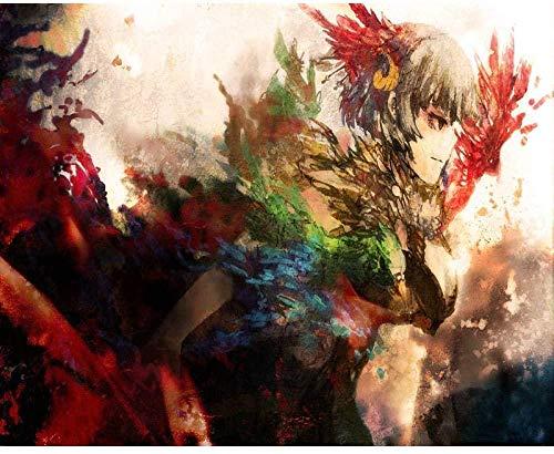 shuodade Pintura de Bricolaje por Figuras abstractas niña Tinte por números Pared...