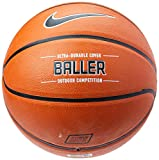 Nike Baller Basketball Full Size (29.5', Ages 13+) Amber/Black/Metallic Platinum