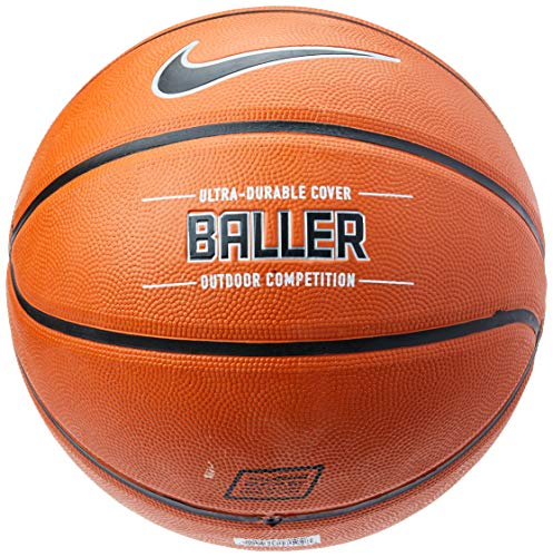 Best Price Nike Baller Basketball Full Size (29.5, Ages 13+) Amber/Black/Metallic Platinum
