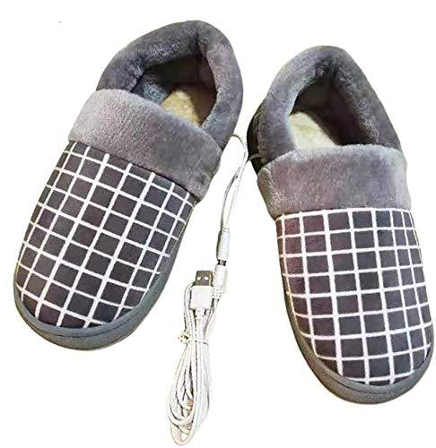 HHY X Zapatillas Calefactoras Zapato USB