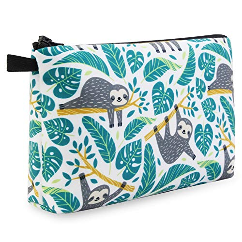 MAGEFY Cosmetic Bag for Students Cute Pencil Case for Kids Portable Travel Makeup Bag with Zipper Lightweight Pencil Pouch for School Supplies (1 pack, 0172 sloths)