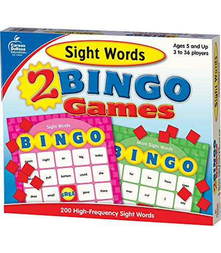 Sight Words: 2 Bingo Games [With 2-Sided Game Cards, Calling...
