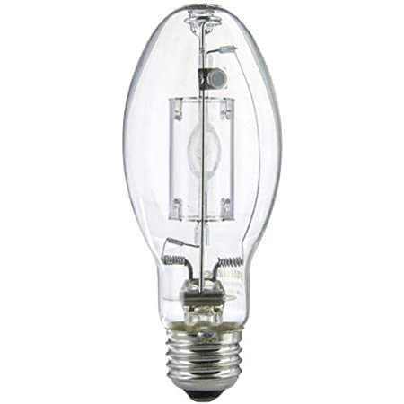 Sunlite 03646-SU MP150/C/U/MED M90/O Protected Metal Halide Lamp, 100 Watts, Medium Base (E26), Pulse Start, ED17, 15,000 Hours Life, 8500 Lumen, Clear Finish