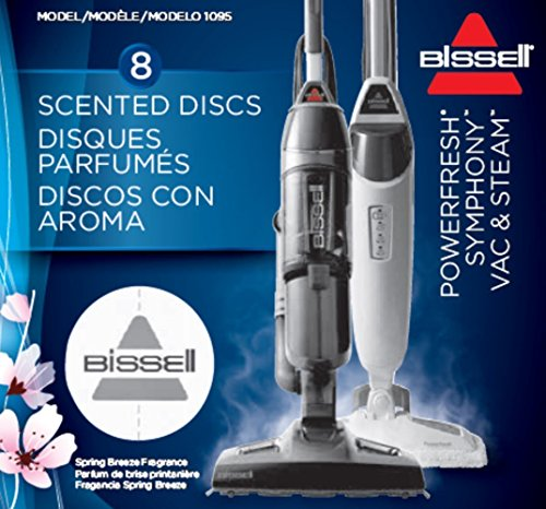 BISSELL 1095 Spring Breeze Duftscheiben mit Frühlingsduft für PowerFresh, PowerFresh Slim Steam und Vac&Steam, 8 Stück