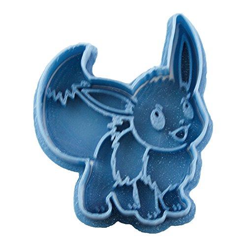 Cuticuter Eevee Pokémon Keksausstecher, Blau, 8 x 7 x 1,5 cm