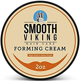 Smooth Viking Forming Cream for Men, High Hold and Matte Finish, For Short and Long Hair..