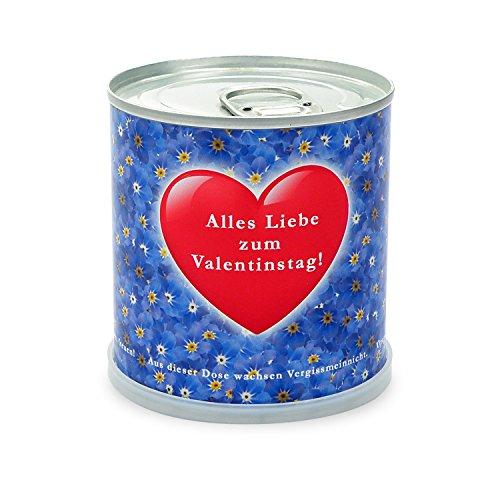 Fleur Salutations de de la boîte – Saint-Valentin Cœur avec Myosotis