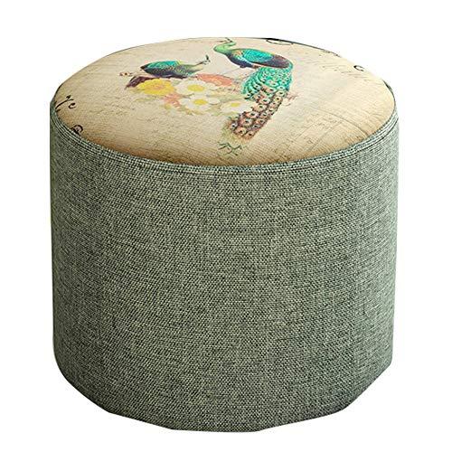 PN-Braes Taburete pequeño para cambiar el hogar, taburete para el sofá, sala de estar, taburete bajo (tamaño: 28?28?27cm; color: verde)