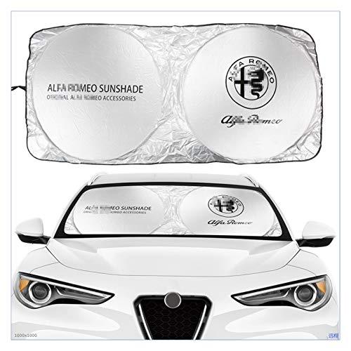FENGFENG Sun Can Auto Piano Parabrezza Sole Cover Fit Fit per Alfa Romeo Logo Pattern 159 147 Giulietta Stelvio 4C Mito 156 Accessori Anti Sole Riflettore