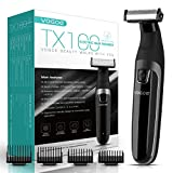 VOGOE Beard Trimmer for Men Full Body Electric Trimmer and Shaver Cordless Hair Clippers Professional Hair Razors for Wet and Dry, Portable Waterproof and Rechargeable TX100