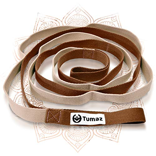 Tumaz Stretch Strap - 10 Loops & Non-Elastic Band - The Perfect Home Workout Stretching...