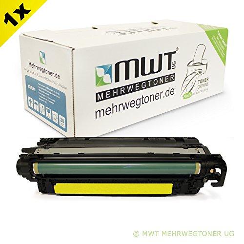 Mehrwegtoner fur Color Laserjet Enterprise 500 Color Serie M551 N M551 DN Patronen ersetzen HP 507A gelbe CE402A Patronen deutsche Qualitat von MWT kein Original