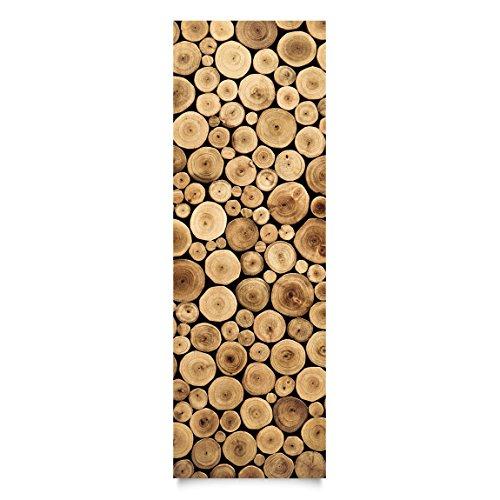 Film de meuble - Homey Firewood, film de bricolage, film collant, film de verre, film design, film décoratif, film de bois, DIY, cuisine, séjour, commodes, chambre d'enfant, Dimension: 300cm x 100cm