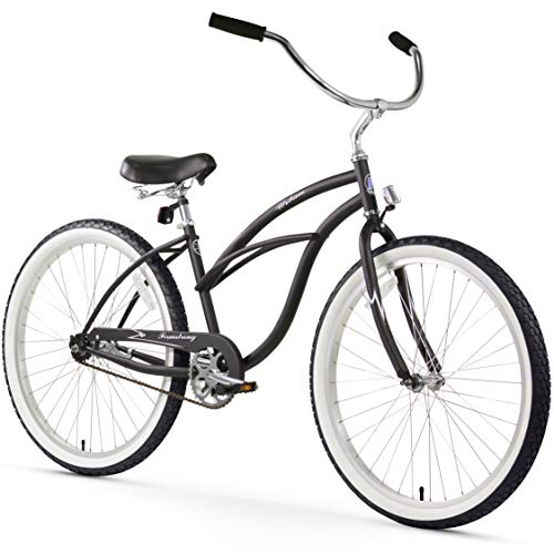 "Firmstrong Urban Lady Single Speed - Women's 26"" Beach Cruiser Bike (Matte Black)"