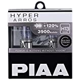 PIAA Hyper Arros H13 Car Replacement Headlights Bulbs +120% (Twin Pack) HE907