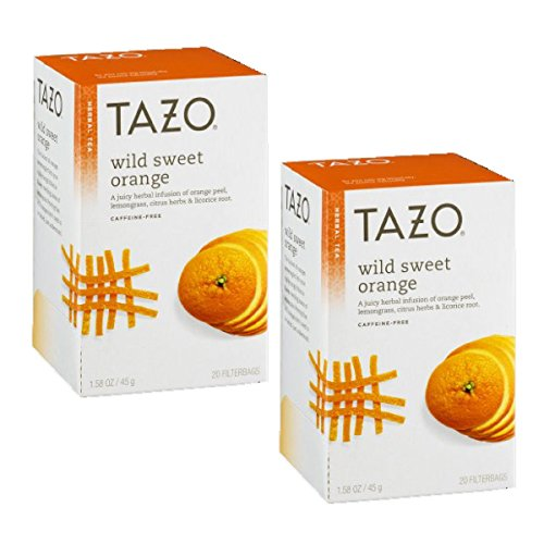 Tazo Wild Sweet Orange Herbal Tea, 20 ct (Pack of 2)