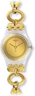 Swatch Women's LK346G Elefinja Year-Round Analog Quartz Gold Watch