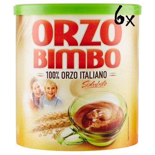 6x Orzo Bimbo 100% italiano Instant lösliche Gerste Getreidekaffee Kaffee 120 gr