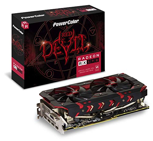 PowerColor AXRX 590 8GBD5-3DH/OC Graphic Cards, Black/Red