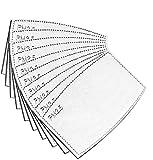 filtros PM2.5 de carbón activado con 5 capas, reemplazables, antiniebla, filtro de papel para adultos(60 unidades)