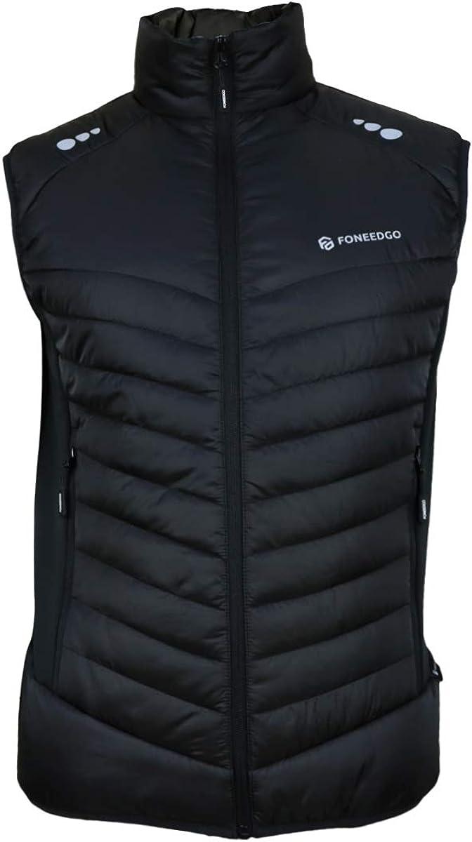 FONEEDGO Men's Lightweight Water-Resistant Stand Col Vest Manufacturer direct delivery Puffer Alternative dealer