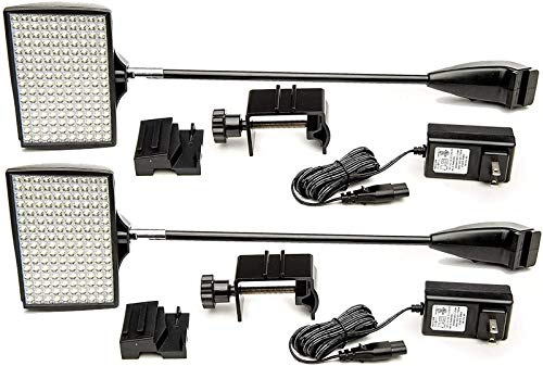 LED Trade Show Lights, HitLights 2 Packs LED Display 12V DC Lights, Pop-Up Halogen Replacement,...