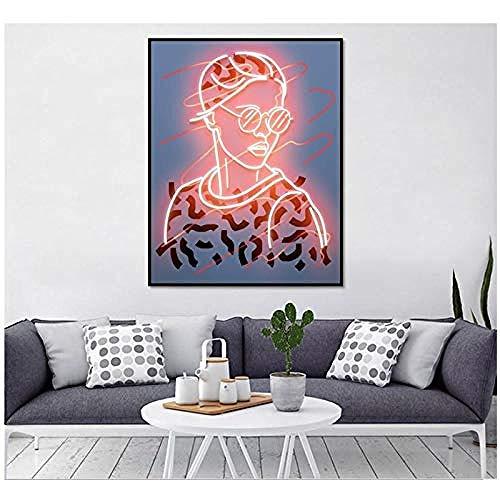 Canvas print,geschilderd schilderij op klassiek schilderij goede canvas kunst aan de muur-60x70cm