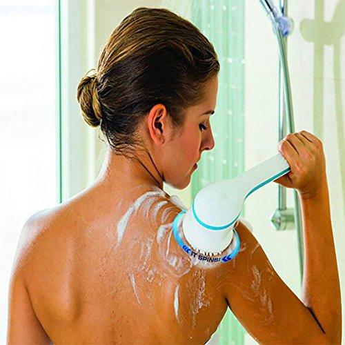 Cepillo De Baño Eléctrico Multifuncional Spin Scrubber System SPA De Masaje De Mango Largo 5 Conjuntos De Accesorios Productos De Baño De Mango Largo
