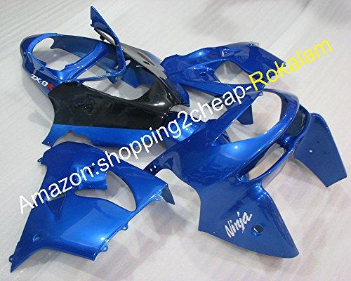 Kit de carénage complet pour Kawasaki Ninja ZX9R 1998 1999 ZX 9R Bleu Noir (Moulage par injection)