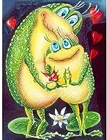 大人のジグソーパズル1000ピース漫画カエル動物ジグソーパズルインテリジェント減圧楽しい子供大人のジグソーパズルゲーム