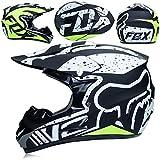 Helmet Motocross Kids Kinderhelm-ECE-Zertifizierung Jugend Quad Crash DH Vollgesichts Offroad Downhill Dirt Bike MX ATV Motorradhelm für Jungen Mädchen,Pink,XL
