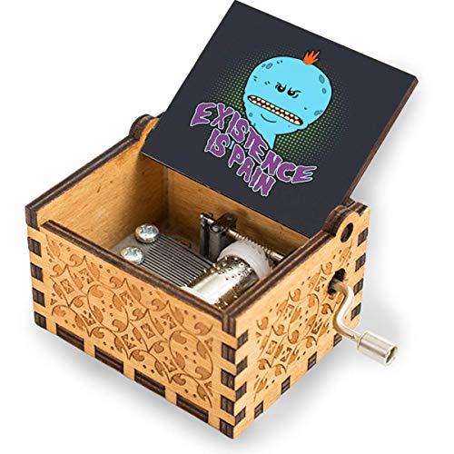 Wahom Mr Meeseeks Existence Is Pain Gift for Daughter/Hijo de papá, cajas de música vintage grabadas con láser