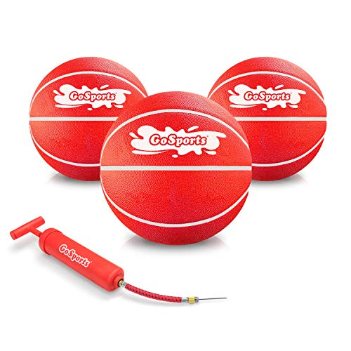 GoSports Swimming Pool Basketballs 3 Pack | Great for Floating Water Basketball Hoops