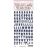 3D-Porzellan-Sticker Schriftdekor 4 lila SA 893224