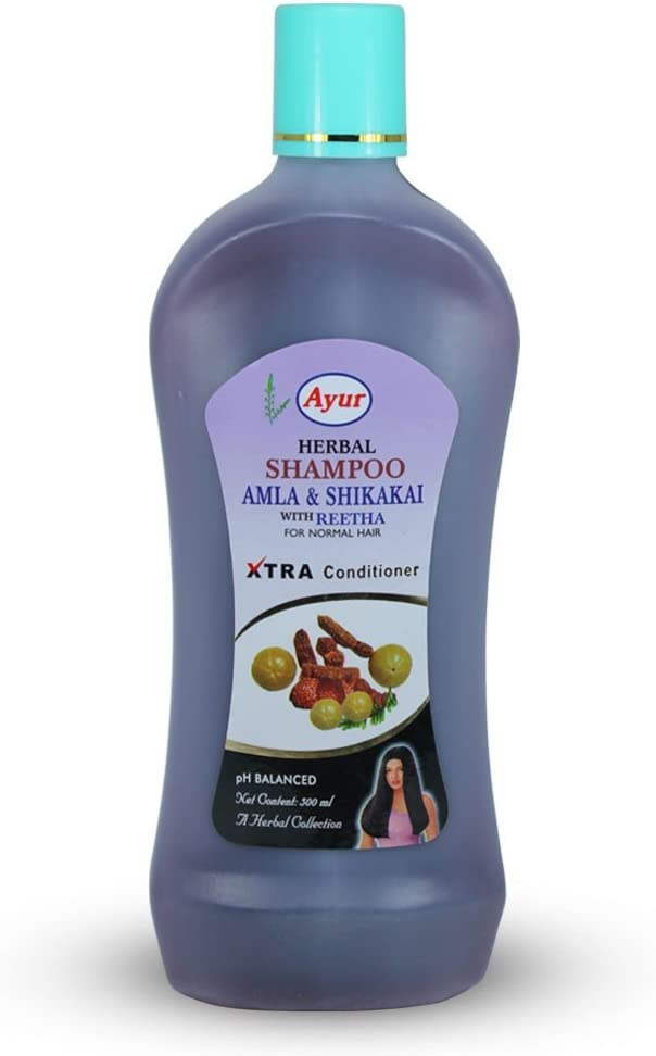 Ayur Herbal Shampoo Super popular specialty store Amla Shikakai Normal with Reetha Hair [Alternative dealer] for